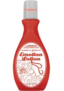 Emotion Lotion Flavored Water Based Warming Lotion Raspberry Cheesecake 4 Ounce