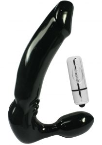 Feeldoe Stout Strapless Strap On Silicone 5.75 Inch Black