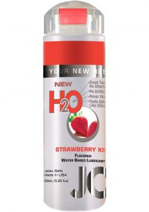 Jo H2O Flavored Water Based Lubricant Strawberry Kiss 4 Ounce