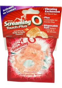 The Screaming O Touch Plus Cock Ring Waterproof Flesh