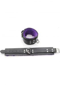 Purple Fur Line Ankle Restraints