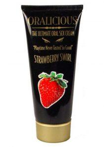 Oralicious Ultimate Oral Sex Cream 2 Ounce Strawberry Swirl