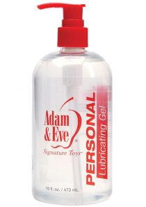 Adam And Eve Personal Lubricant Gel Water Based 16 Ounce Pump