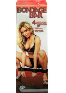 Bondage Bar With Neoprene And Velcro Cuffs 24 Inch Black