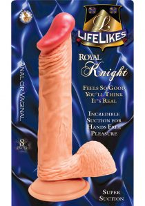 Lifelikes Royal Knight Dildo 8 Inch Flesh