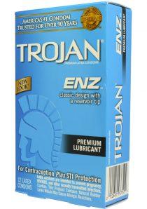Trojan Condom Enz Lubricated 12 Pack