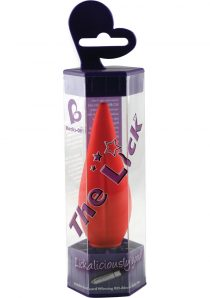The Lick Vibrator Waterproof Red