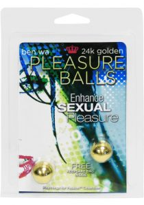 Crazy Girls Wanna Be Excited 24K Golden Pleasure Balls
