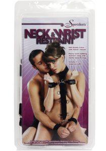 Neck And Wrist Restraint Black