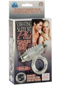 Support Plus Vibrating Pleasure Point Ring With Removable 3 Speed Bullet Clear