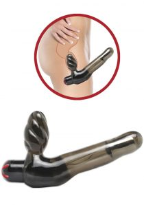 Fetish Fantasy Vibrating Strapless Strap On Waterproof 5.5 Inch Black