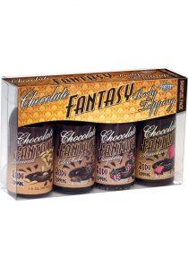 Chocolate Fantasy Edible Body Topping 4 Pack Sampler