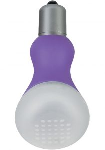 Foreplay Ice Frost Vibrating Sensual Massager Silicone 2.25 Inch Purple