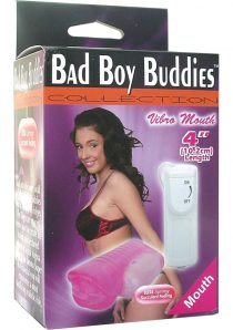 BAD BOY BUDDIES VIBRO MOUTH 4 INCH MOUTH PINK
