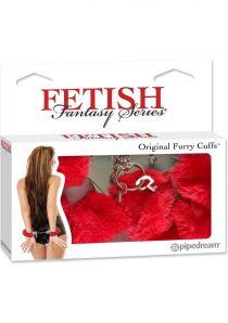 Fetish Fantasy Series Furry Cuffs Red