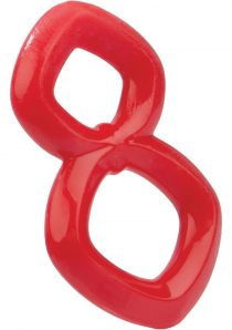 Crazy 8 Cock Ring Red
