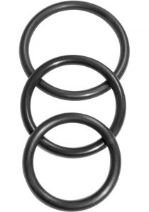 Sex And Mischief Nitrile Cock Ring 3 Pack Black