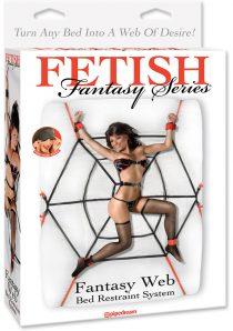 Fetish Fantasy Series Web Bed Restraint System Black