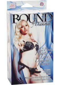 Bound By Diamonds 2 Piece Hearts Of Love Diamond Harness Black