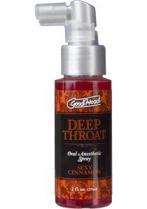 Goodhead Deep Throat Oral Anesthetic Spray Sexy Cinnamon 2 Ounce