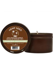 Hemp Seed 3 In 1 Massage Candle 100% Vegan Cucumber Melon 6 Ounce