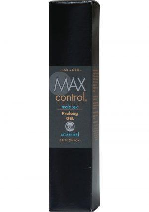 Max 4 Men Max Control Male Sex Prolong Gel Unscented 0.5 Ounce