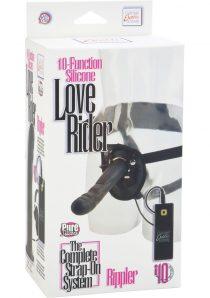 10 Function Silicone Love Rider Rippler Harness Black