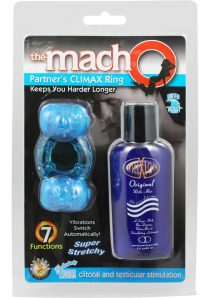 The Macho Partners Climax Ring Cock Ring Waterproof Blue