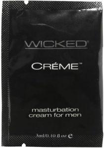 Wicked Creme Masturbation Cream For Men Foil Packs 144 Per Bag