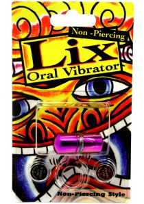 Lix Non Piercing Oral Vibrator Purple Amethyst