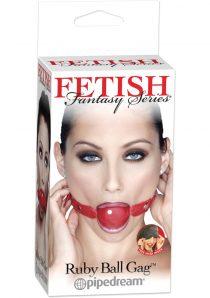 Fetish Fantasy Series Ruby Ball Gag Red