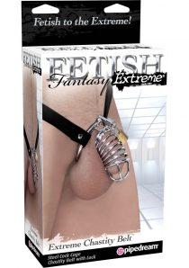 Fetish Fantasy Extreme Chastity Belt With Lock Steel