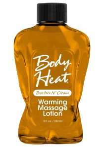 Body Heat Edible Warming Massage Lotion Peaches N Cream 8 Ounce