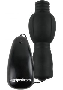 Fetish Fantasy Series Vibrating Head Teazer Wired Remote Control Black