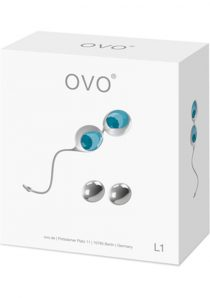 Ovo L1 Silicone Love Balls Waterproof White And Light Blue