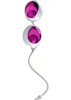 Ovo L1 Silicone Love Balls Waterproof White And Light Violet