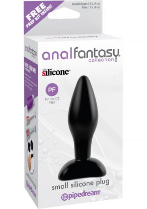 Anal Fantasy Collection Small Silicone Plug Kit Black 3.5 Inch