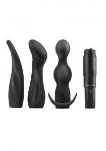 Anal Fantasy Collection Silicone Anal Adventure Kit Waterproof Black