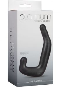 Platinum Premium Silicone The P-Wand Massager Black 4 Inch