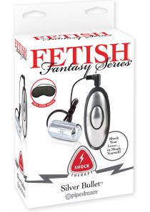 Fetish Fantasy Wired Remote Control Shock Therapy Silver Bullet 2.25 Inch