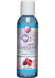 Candiland Sensuals Sweet N Tart Warming Massage Gel Tart Berry 2 Ounce – Bulk