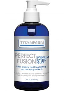 TitanMen Perfect Fusion Hybrid Based Lubricant Glide 8 Ounce Pump