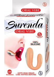Surenda Silicone Oral Vibe Rechargeable 5 Function Waterproof Flesh 2.25 Inch