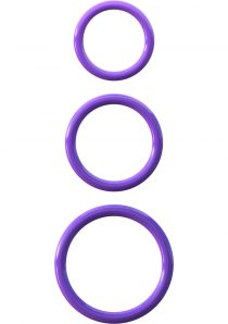 Fantasy C Ringz Silicone 3 Ring Stamina Cockring Set Purple