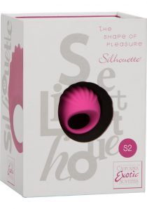 Silhouette S2 Silicone Rechargeable Finger Massager Waterproof Pink 1.75