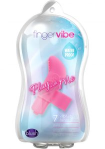 Play With Me Silicone Finger Vibe Waterproof Pink 3.5 Inch