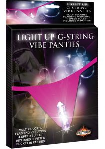 Light Up G String Vibe Panties Waterproof Hot Pink One Size Fits All