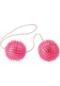 Minx Vibratone Textured Weighted Love Balls Pink
