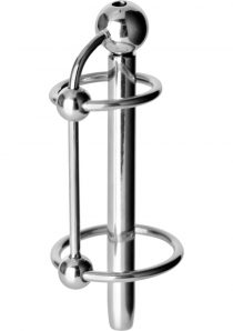 Master Series Excrucio Ringed Cum-Thru Plug Metal 3.7 Inch
