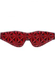 Master Series Crimson Tied Blackout Blindfold Red